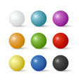 Collection of colorful glossy spheres vector image vector image