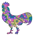 Colorful cock vector image vector image