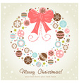 Creative design Christmas wreath vector image