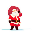 cute santa claus with a bag full of gifts vector image