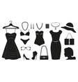 Fashion icons collectuin for woman vector image vector image