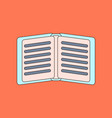 flat icon with thin lines notebook vector image