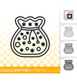 gingerbread cookie simple black line icon vector image vector image