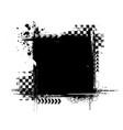 grunge tire black square frame vector image vector image