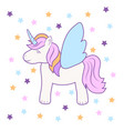 hand drawing cute unicorn icon stock vector image vector image
