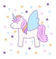 hand drawing cute unicorn icon stock vector image