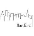 hartford city one line drawing vector image vector image