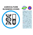 hitech microbiology rounded icon with set vector image vector image
