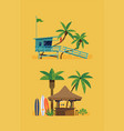 hot summer beach design elements vector image vector image