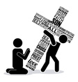 jesus christ vector image vector image
