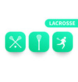 lacrosse icons on green shapes vector image vector image