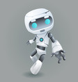 mascot robot innovation technology science fiction vector image vector image