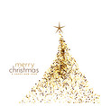 merry chrismtas creative tree design white vector image vector image
