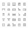 mini icon set - furniture icon vector image vector image