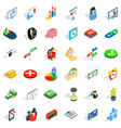 mouse click icons set isometric style vector image vector image
