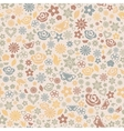 multicolored seamless pattern flowers vector image vector image