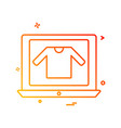 online shopping icon design vector image vector image