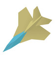 origami aircraft icon cartoon style vector image