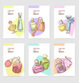 perfume bottles hand drawn cards template vector image vector image