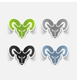 realistic design element head of the ram vector image vector image