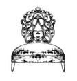 rich baroque chair royal style furniture vector image vector image