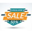 sale banner special offer concept discount label vector image vector image