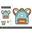 School backpack line icon vector image vector image