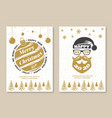 set merry christmas and 2020 happy new year vector image vector image