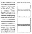 set of hand-drawn doodle frames sketch borders vector image