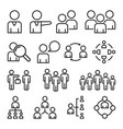 simple set business people related line icons vector image