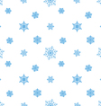 snowflake blue white background vector image vector image