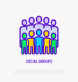 social groups thin line icon modern vector image