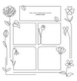 spring flowers background continuous line drawing vector image vector image