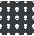 Straight black alien pattern vector image vector image