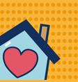 sweet home cartoon vector image