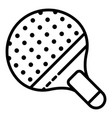 table tennis paddle icon outline style vector image vector image
