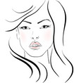 the beautiful girl vector image vector image