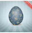 The Easter egg with a floral pattern ornament vector image vector image