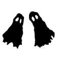 two ghosts vector image vector image