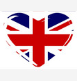 union flag heart vector image vector image