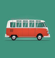 vintage classic bus cartoon styled vector image