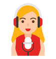 voice actor icon profession and job vector image vector image