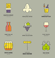 Wine Logos vector image vector image