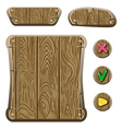 wooden game assets-3 vector image vector image
