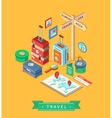 Isometric summer creative design template Set of vector image