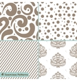 Seamless pattern circles lines swirls ornament vector image