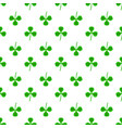 green clover seamless pattern shamrock background vector image
