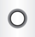 abstract black hole circle background vector image