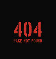 404 error page background vector image vector image
