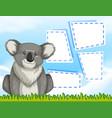 a koala on blank template vector image vector image